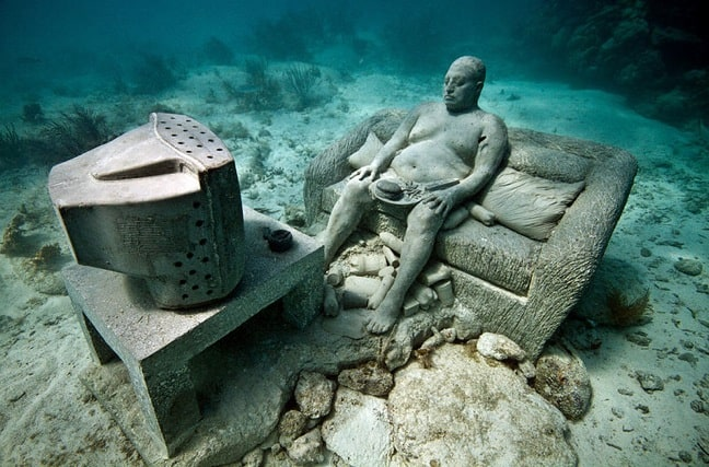 "The ""Inertia"" Installation at Cancun Underwater Museum"