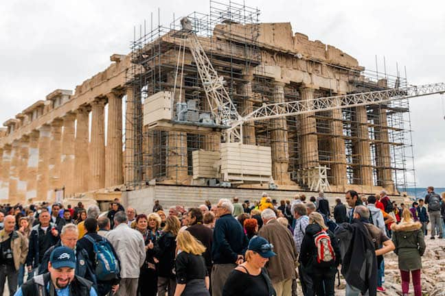 Restoration Construction on the Acropolis of Athens