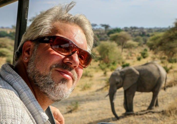 Animal Selfies - Elephant in Background