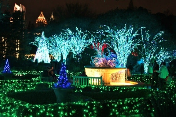 Atlanta Botanical Gardens Garden Lights Holiday Nights