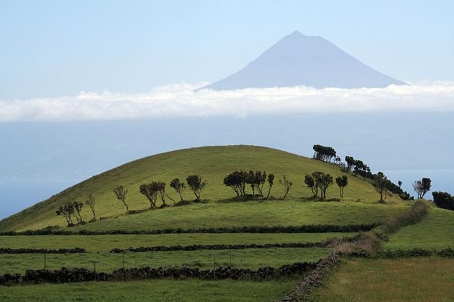 Mount Pico in the Azores, Portugal