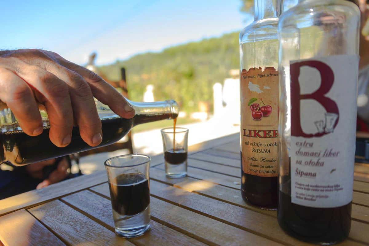 Balkan Travel-Via Dinarica Sipan Croatia Olive Oil Liqueur