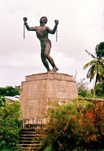 The Famous Bussa Emancipation Statue in Barbados