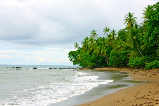 Beach at Sirenis Station in Corcovado National Park, Costa Rica
