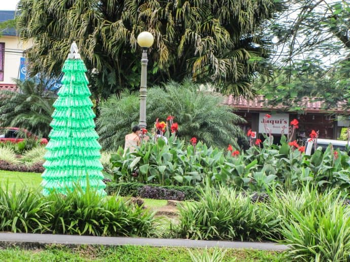 Become a Responsible Traveler-Plastic Bottle Christmas Tree in Costa Rica