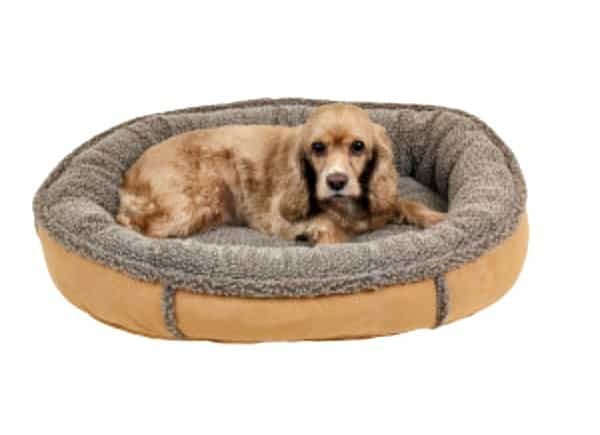Best Gifts for Travelers - Carolina Pet Company FAUX SUEDE round pet bed