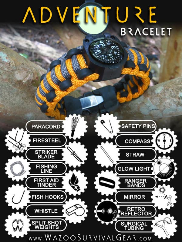 Best Outdoor Supplies for Autumn 2016- Wazoo Adventure Paracord Survival Bracelet