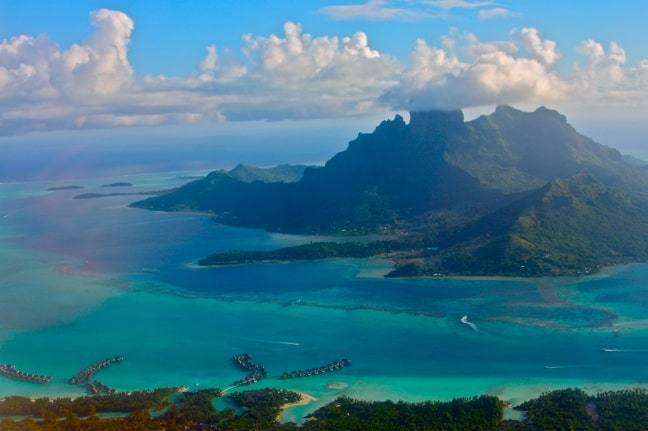 Bird's Eye View of Bora Bora, Tahiti