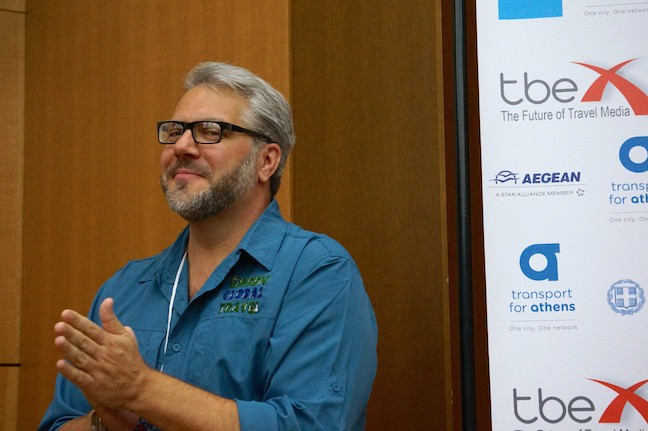 Bret Love of Green Global Travel at TBEX Athens