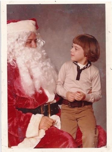 Bret with Santa