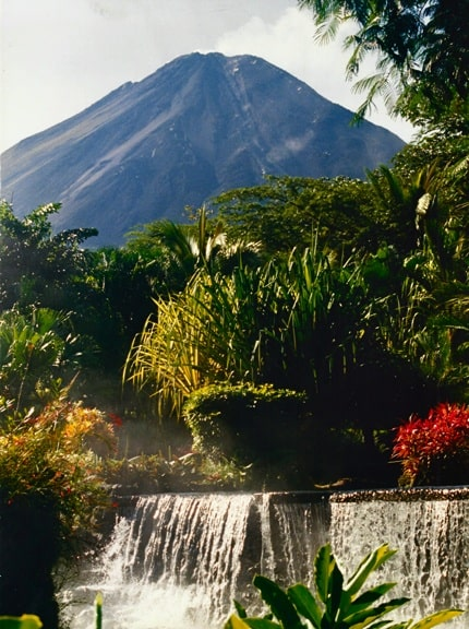 Arenal Volcano, as Seen From Tabacon Hot Springs