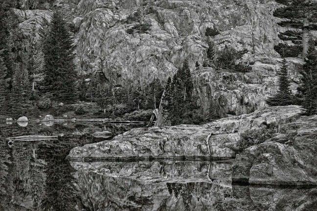 Ansel Adams Wilderness, California. Sunrise, Cabin Lake