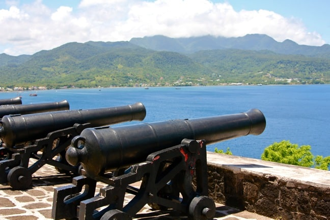 Cannons at Fort Shirley's  Garrison, Dominica