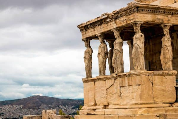 The Caryatids of the Erechtheion at the Acropolis of Athens