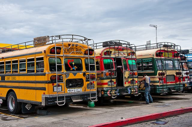 Chicken Bus in Guatemala by Christopher William Adach via CC