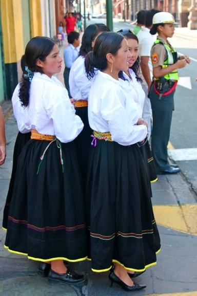 Dancers Pre-Performance in Lima, Peru