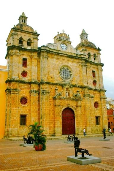 Iglesia de San Pedro Claver en Cartagena, Colombia