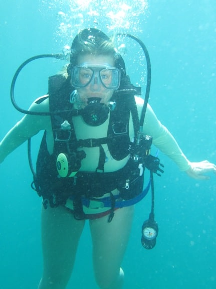 Mary Gabbett of Green Global Travel, Diving in Panama's Coiba National Park