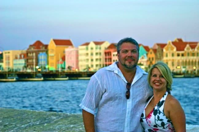 Bret Love and Mary Gabbett in Curacao