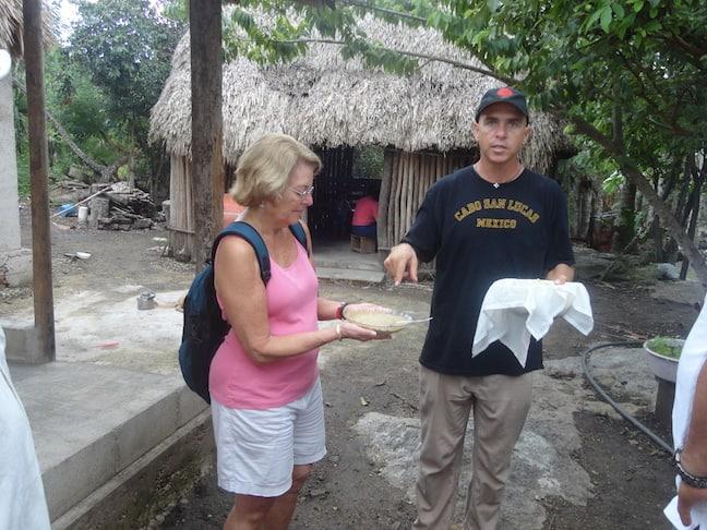 Dr Martha Honey tours Coba, Mexico during TBEX Cancun