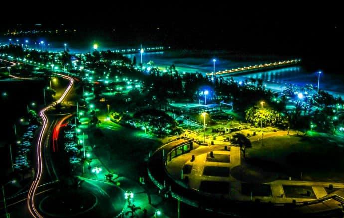 Durban Boardwalk at Night