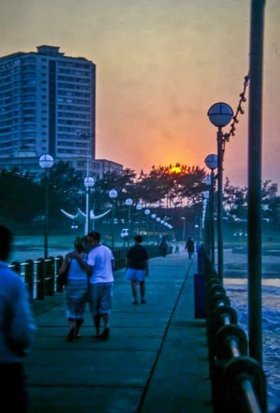 Durban Boardwalk at Sunset
