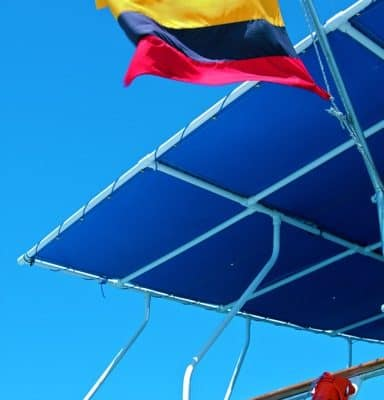 PIC OF THE DAY: Ecuador's Flag Flies Over Ecoventura's M/Y Eric