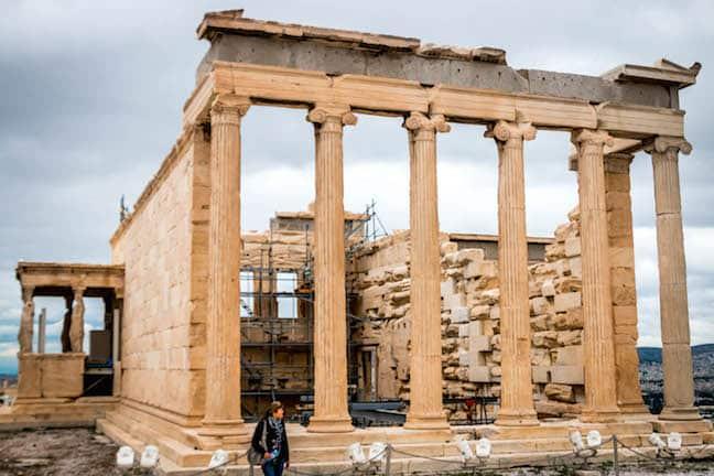 Erechtheion at the Acropolis of Athens