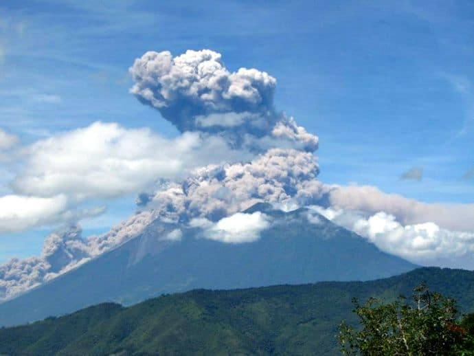 Eruption of Volcano Fuego, Guatemala