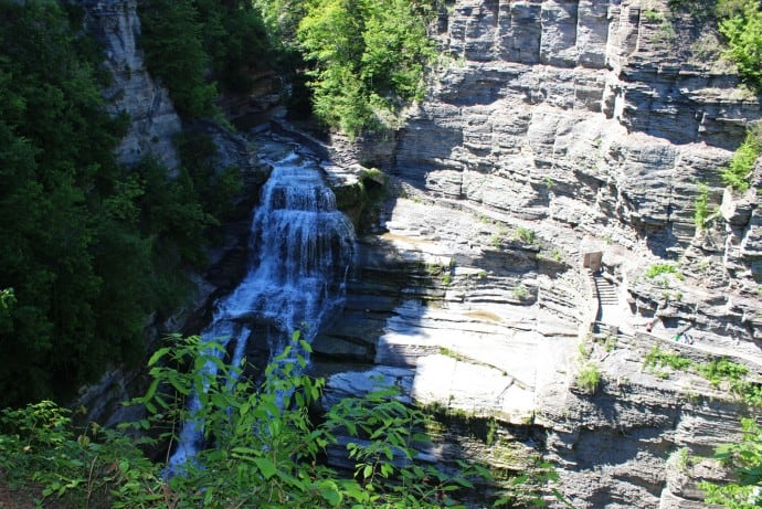 Finger Lakes Waterfalls - Lucifer Falls from above