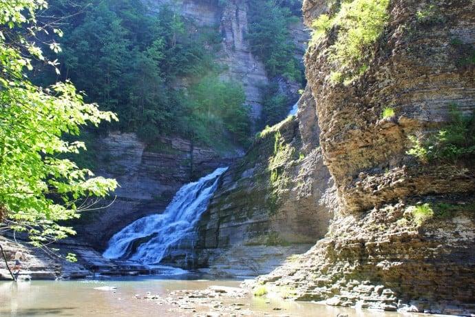 Finger Lakes Waterfalls - Lucifer Falls natural swimming pool