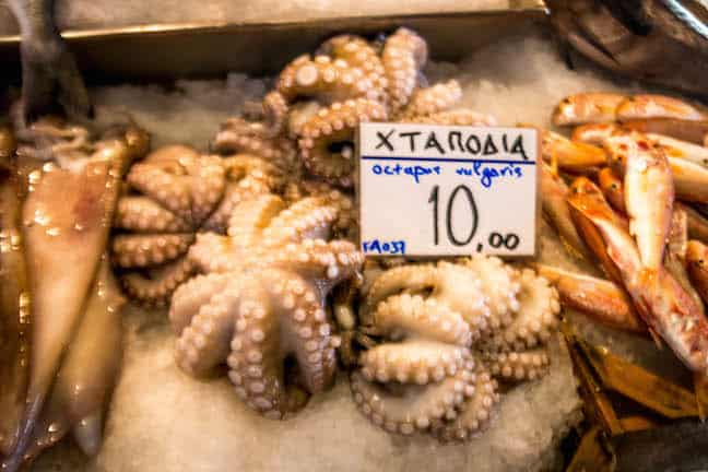 Fish Market on Aegina Island, Greece