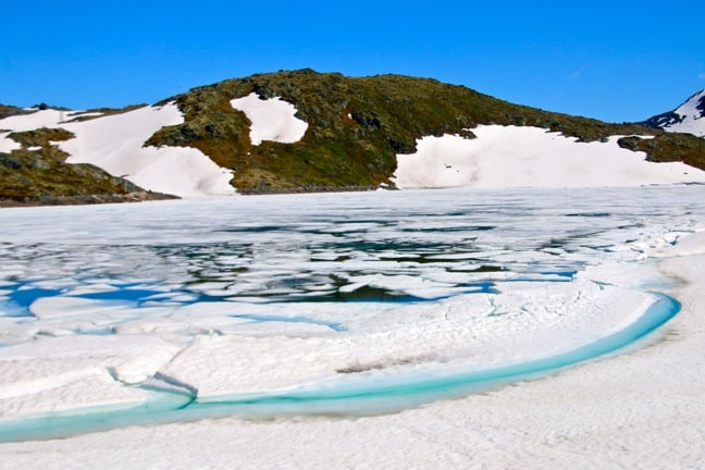 Glacial Ice in the Jotunheimen Mountains, Norway