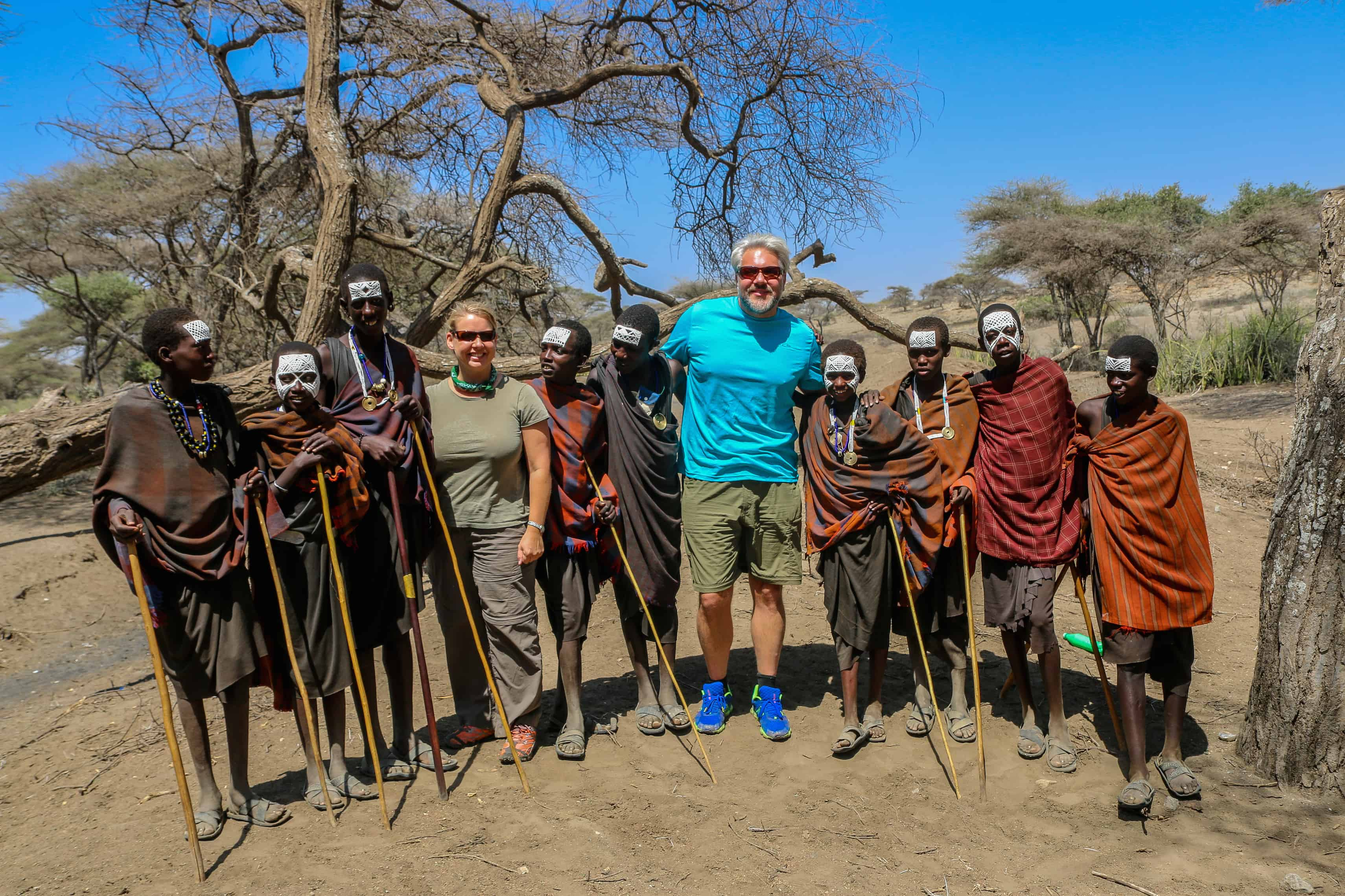 Green Global Travel with Maasai Boys