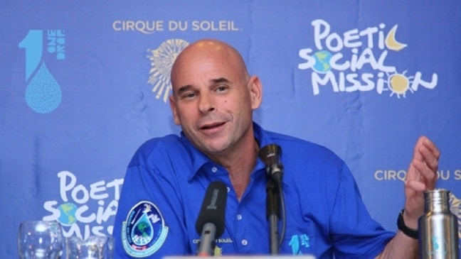 Guy Laliberté Press Conference for ONE DROP Foundation