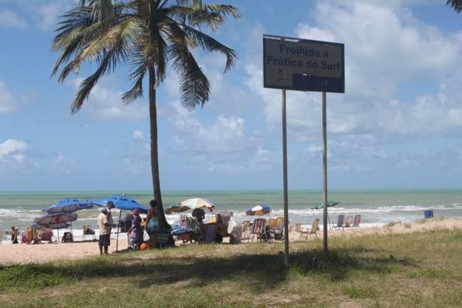 No hay señales de surf en Recife, Brasil