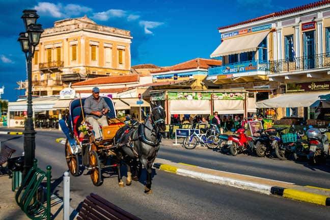 Horse Carriage on Aegina Island, Greece