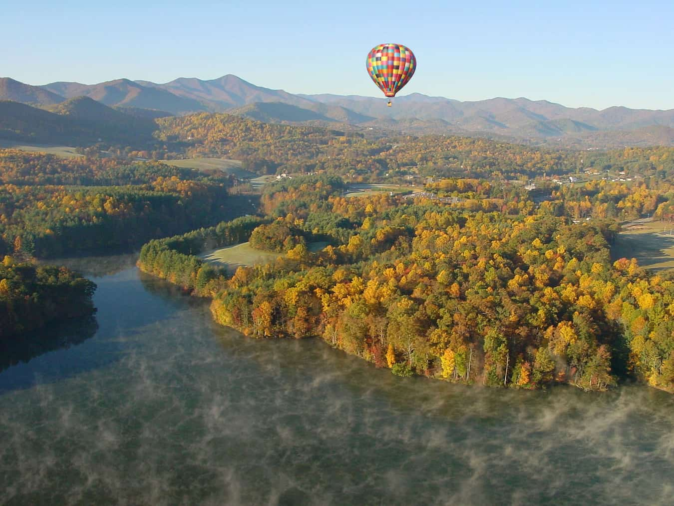 Hot Air Balloon Ride Over Asheville, photo courtesy ExploreAsheville.com