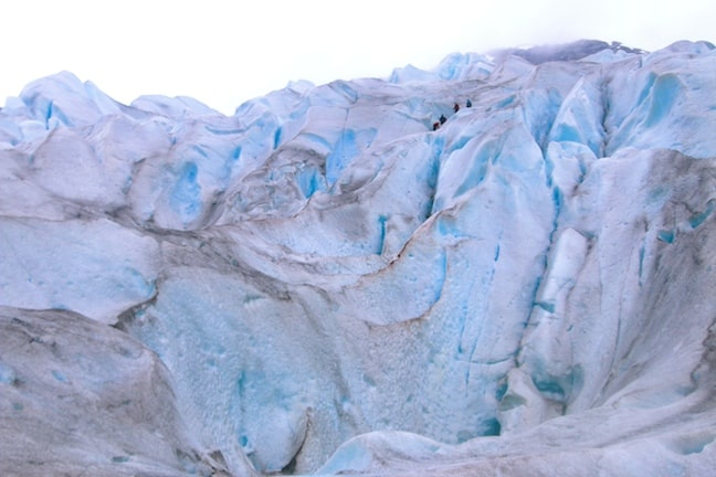 The Steep Incline of Nigardsbreen Glacier, Norway