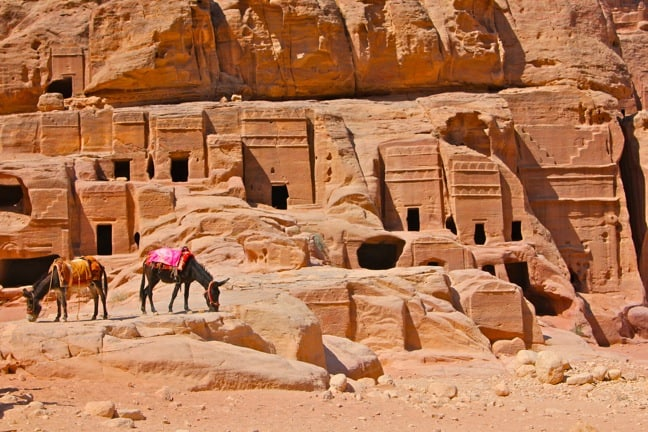 Royal Tombs in Petra, Jordan