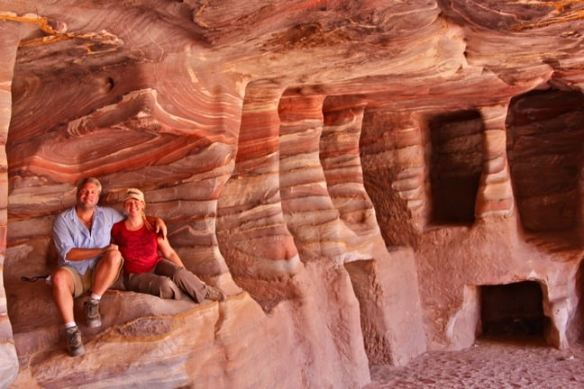 The Painted Room in Petra, Jordan