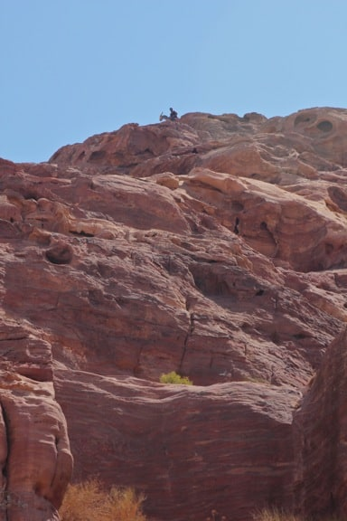 A Berber Watches From Atop the Mountain in Petra, Jordan