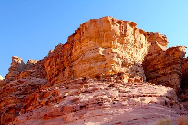 Stunning Cliff Formations in Wadi Rum, Jordan