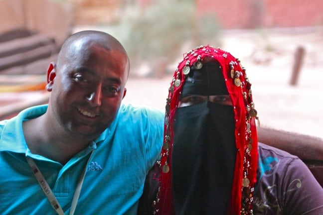 Mary Gabbett models hijab in Wadi Rum, Jordan