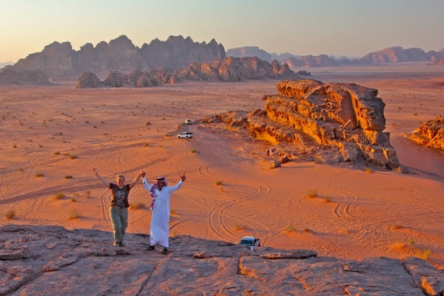 Sunset Celebration in Wadi Rum, Jordan