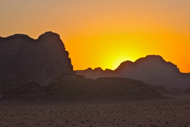 Benefits of Ecotourism -Sunset in Wadi Rum, Jordan
