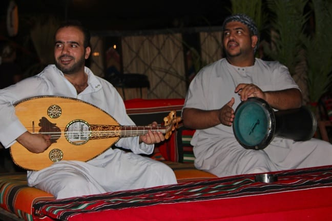 Arabic Musicians Perform at Captain's Camp, Wadi Rum