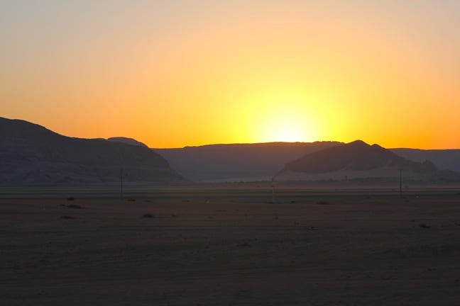 Sunrise Over Wadi Rum, Jordan
