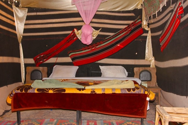 Inside Our Bedouin Tent at Captain's Camp, Wadi Rum