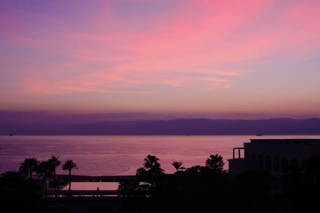 Sunset on the Dead Sea, Jordan